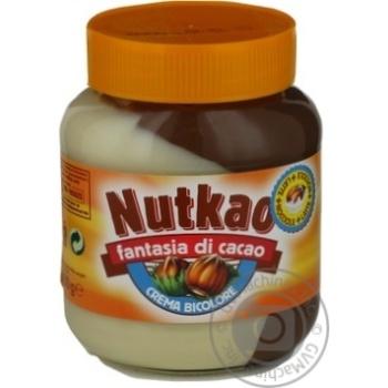 Паста молочно-горіхова з какао Nutkao 400г - купить, цены на Novus - фото 1