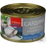 Риба сардина О'море консервована 240г залізна банка