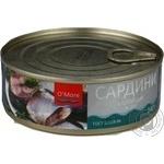 Рыба сардина О'морэ консервированная 240г железная банка