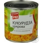 Vegetables corn maize Pervyi riad canned 425g can