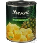 Fruit pineapple Present pieces 820g can