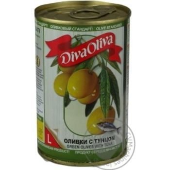 olive Diva oliva tuna green canned 300g can - buy, prices for MegaMarket - image 3