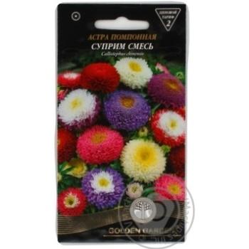 Семена Golden Garden Астра помпонная Суприм смесь 0,3г - купить, цены на Novus - фото 1