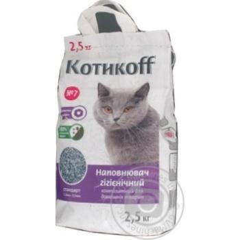 Наполнитель гигиенический Котикоff 2,5кг