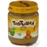 Puree Toptyshka peach cream for children from 8 months 100g