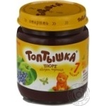Puree Toptyshka blueberry for children from 7 months 100g