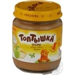 Puree Toptyshka banana cream for children from 8 months 100g