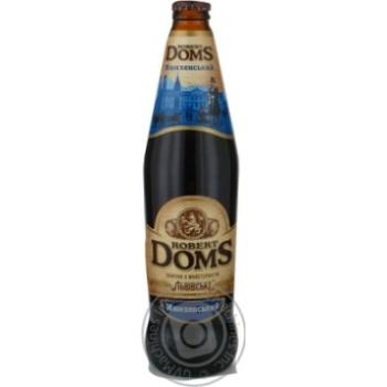 Пиво Львовское Robert Doms Мюнхенский темное 0.5л