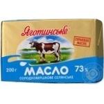 Масло Яготинское Селянское сладкосливочное 73% 200г Украина