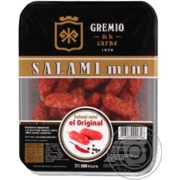 Myasna gildiya Gremio de la carne salami chicken raw smoked Sausages 250g