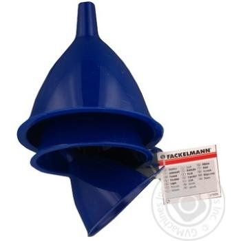 Набір з 3 воронок Fackelmann пластик D7,9,11см - купить, цены на Novus - фото 1