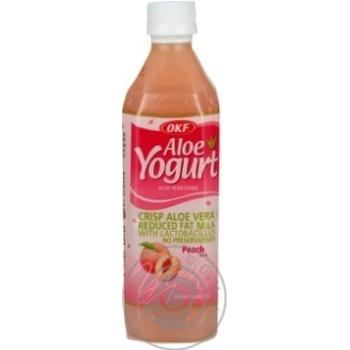 Напій негаз Алоє Йогурт Персик OKF 0,5л