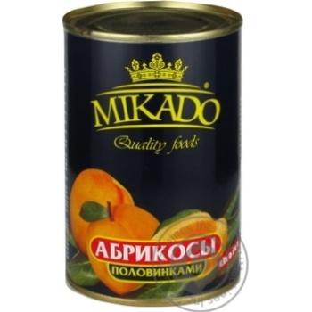 Абрикос половинки в сиропі Мікадо 410г - купить, цены на Novus - фото 1