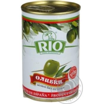Оливки Ріо зелені б/кіст.з/б 300г - купити, ціни на CітіМаркет - фото 1