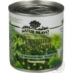 Vegetables pea Natur bravo Private import green sterilized 212ml