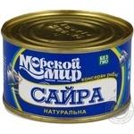 Fish saury Morskiy svit canned 240g