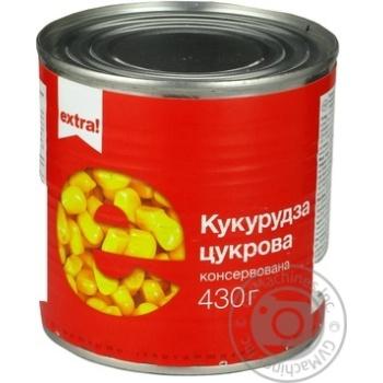 Овощи кукуруза Экстра! консервированная 430г железная банка