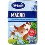 Масло Премія сладкосливочное селянское 73% 100г