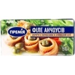Fish anchovy Premiya with capers pickled 50g