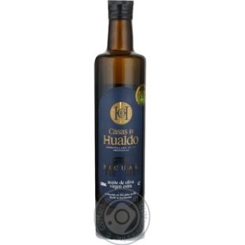 Олія Casas de Hualdo Extra Virgin Пікуаль оливк.скл 500мл - купити, ціни на CітіМаркет - фото 1