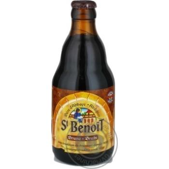 Пиво Brasserie Du Bocq St Benoit темное 0,33л