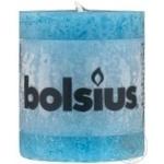 Свеча цилиндрическая синяя 80*68мм шт