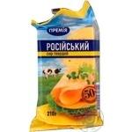 Сыр Премия Российский 50% 210г