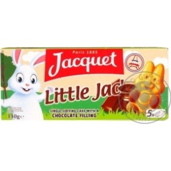 Бисквит Jacquet Маленький Джек с шоколадным наполн 140г