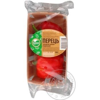 Овощи перец красный Зелена краина свежая 300г Украина