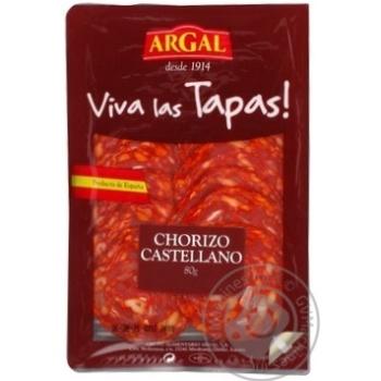 Колбаса Argal Чоризо Кастеллано сыровяленая нарезка 80г - купить, цены на Восторг - фото 1
