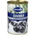 Оливки Премія черные без косточки крупные пастериз 400г
