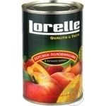 Fruit peach Lorelly in syrup 425ml can