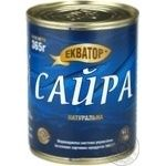 Fish saury Ekvator №9 canned 365g
