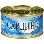 Fish sardines with addition of butter 200g