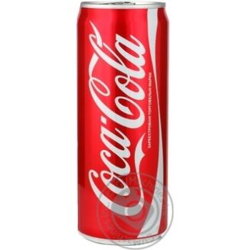 Напій газований Coca-Cola ж/б 0,33л
