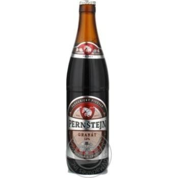 Пиво Pernstejn Granat темне 5,7% 0,5л - купити, ціни на Ашан - фото 1