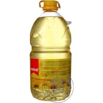 Масло подсолнечное Extra! раф дезодор вымор маркиП 5л