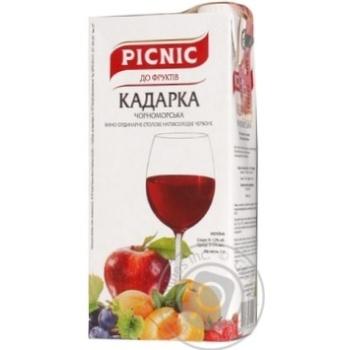 Picnic Kadarka chornomorska Wine red semi-sweet 12% 1l - buy, prices for Novus - image 1