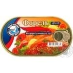 Fish trout Rigskiy yantar in tomato sauce 190g
