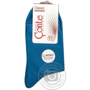 Носки женские Conte Elegant Classic 13С64 темно-бирюзовый р23 шт - купить, цены на СитиМаркет - фото 1