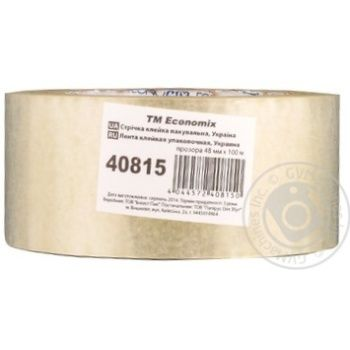 Стрічка клейка пакувальна прозора Economix 48мм*100м - купить, цены на Novus - фото 1