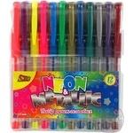 Набір ручок гельових Olli Neon/Metall 12 кольорів