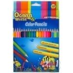Набор цветных карандашей Keyroad 18шт/уп