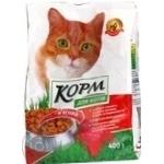 Корм для котов Повна Чаша мясной сухой 400г