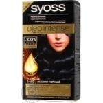 Фарба стійка з олією-активатором для волосся Syoss Oleo Intense 1-40 Синьо-чорний 115мл