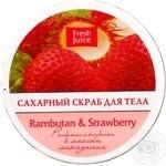 Скраб д/тела Fresh Juice Rambutan&Strawberry сахар 225мл