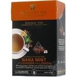 Чай травяной Wissotzky Tea мята-имбирь-лимон 16*2,5г/уп