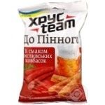 Snack Hrusteam with hunting sausages 90g