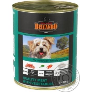 Консерва для собак Belcando М'ясо з овочами 0,8 кг