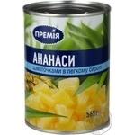 Fruit pineapple Premiya pieces 565g